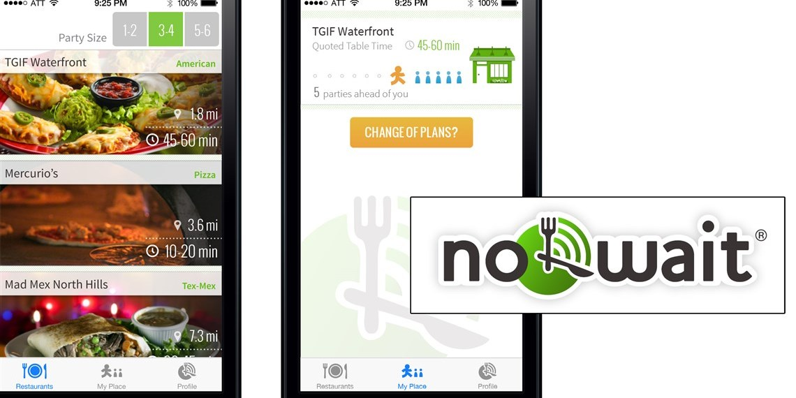 """Nowait"" to Get into a Restaurant with a New App"