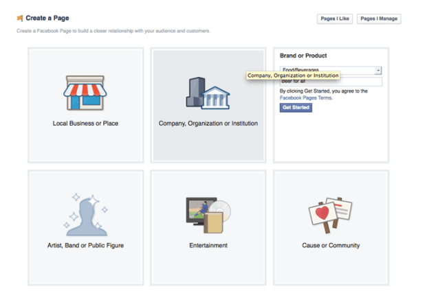 ایجاد صفحه فیسبوک