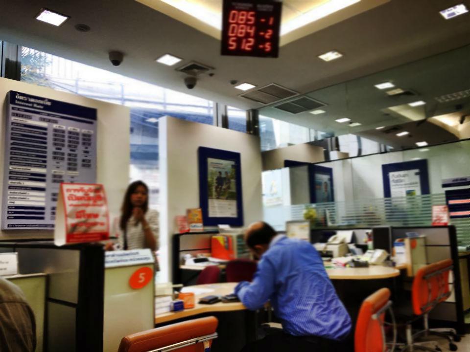 バンコク銀行の窓口