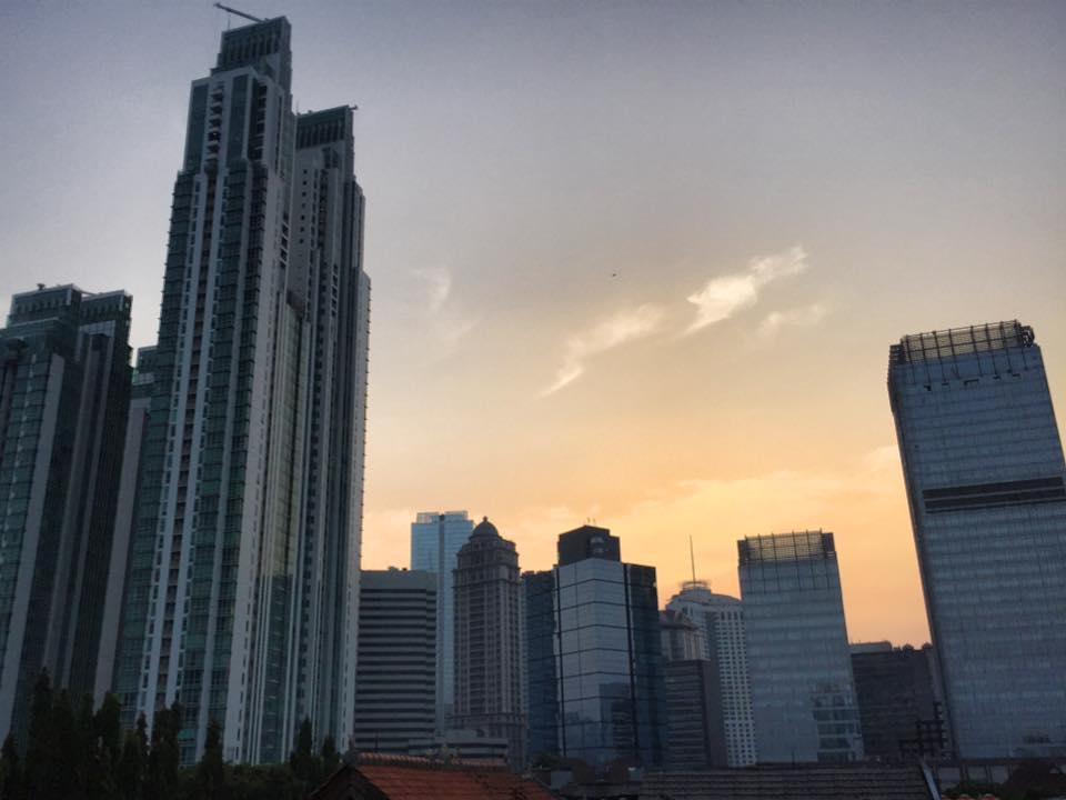 ジャカルタの高層ビル群