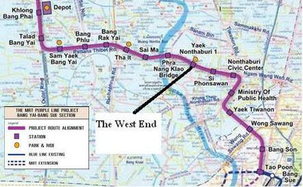 Purple line Bangkok Nontabri