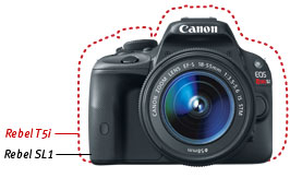 sl1 feature1. V372789736  - Canon EOS Rebel SL1 18.0 MP CMOS Digital SLR with 18-55mm EF-S IS STM Lens
