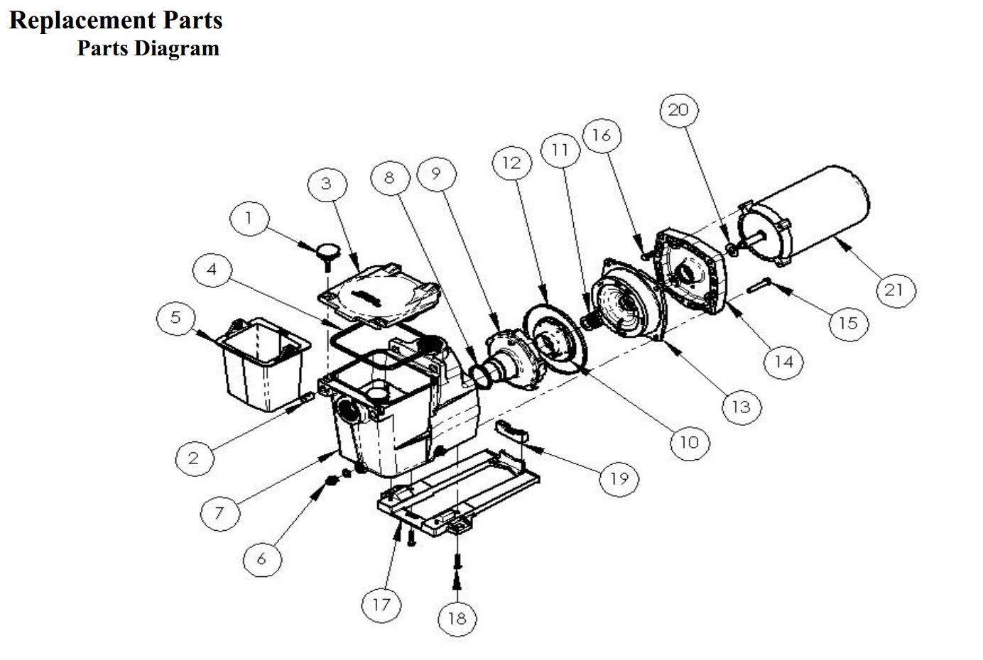 Motor Parts Ao Smith Motor Parts Diagram