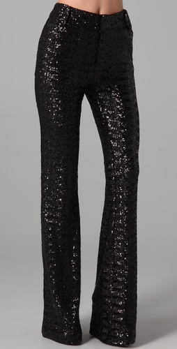 Alice + Olivia Paula High Waisted Sequined Pants