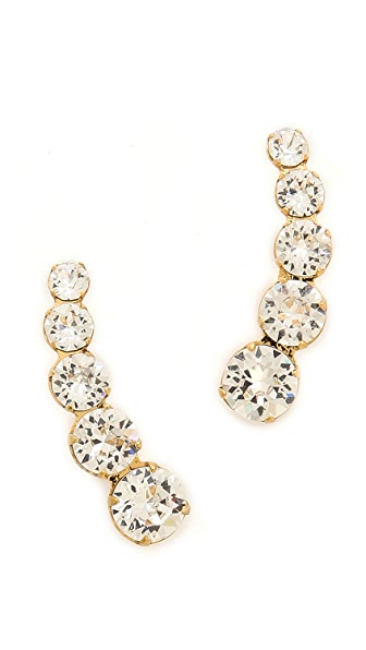 Ca & Lou Debutante Lobo Earrings - Crystal/Gold