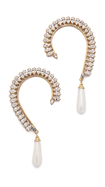 Shay Accessories Crystal Ear Cuffs - Gold/Clear