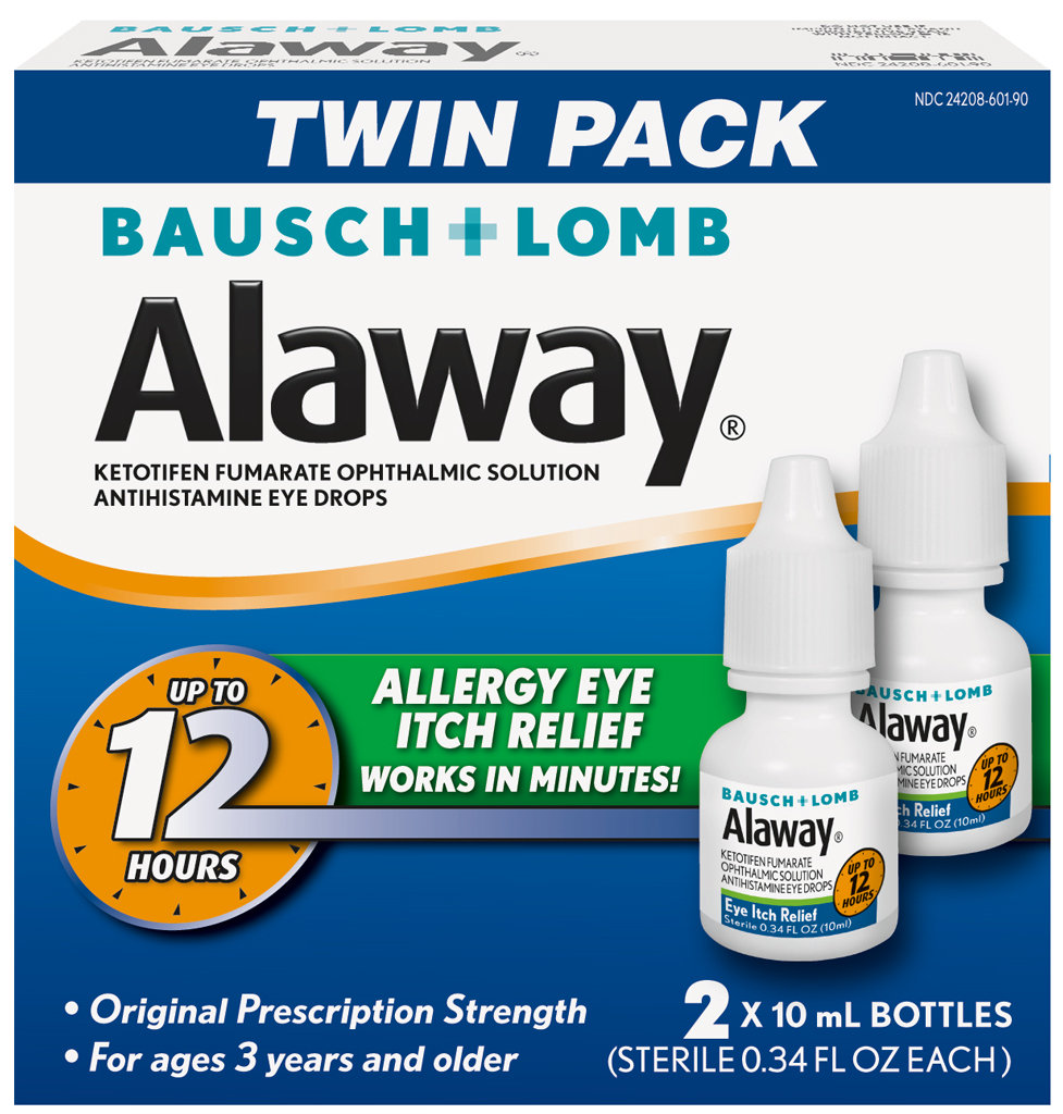 ... Bausch Lomb Alaway Itch Relief Eye Drops 2 x 10 ml Good Dating | eBay