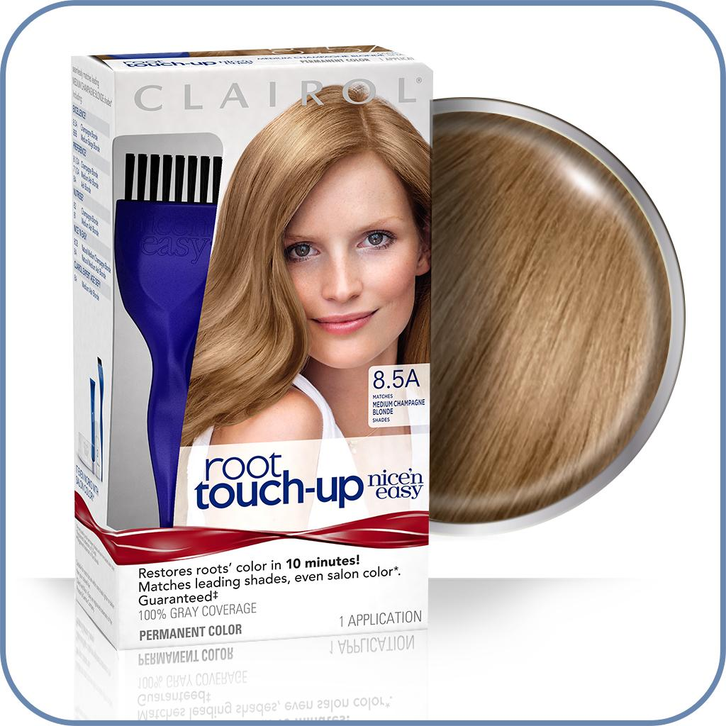 Amazon Clairol Nice N Easy Root Touch Up 8 5a Medium Champagne Blonde 1 Kit 1 000 Kit Beauty
