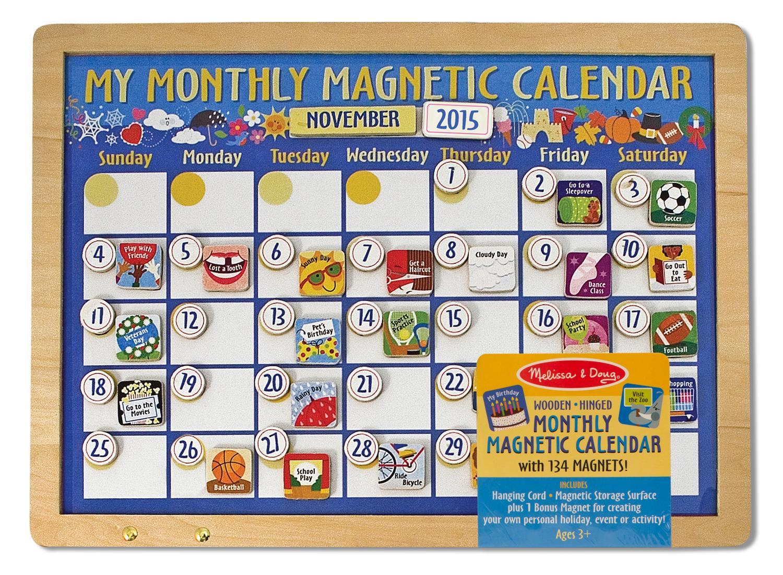 Amazon Melissa Amp Doug Deluxe Magnetic Calendar