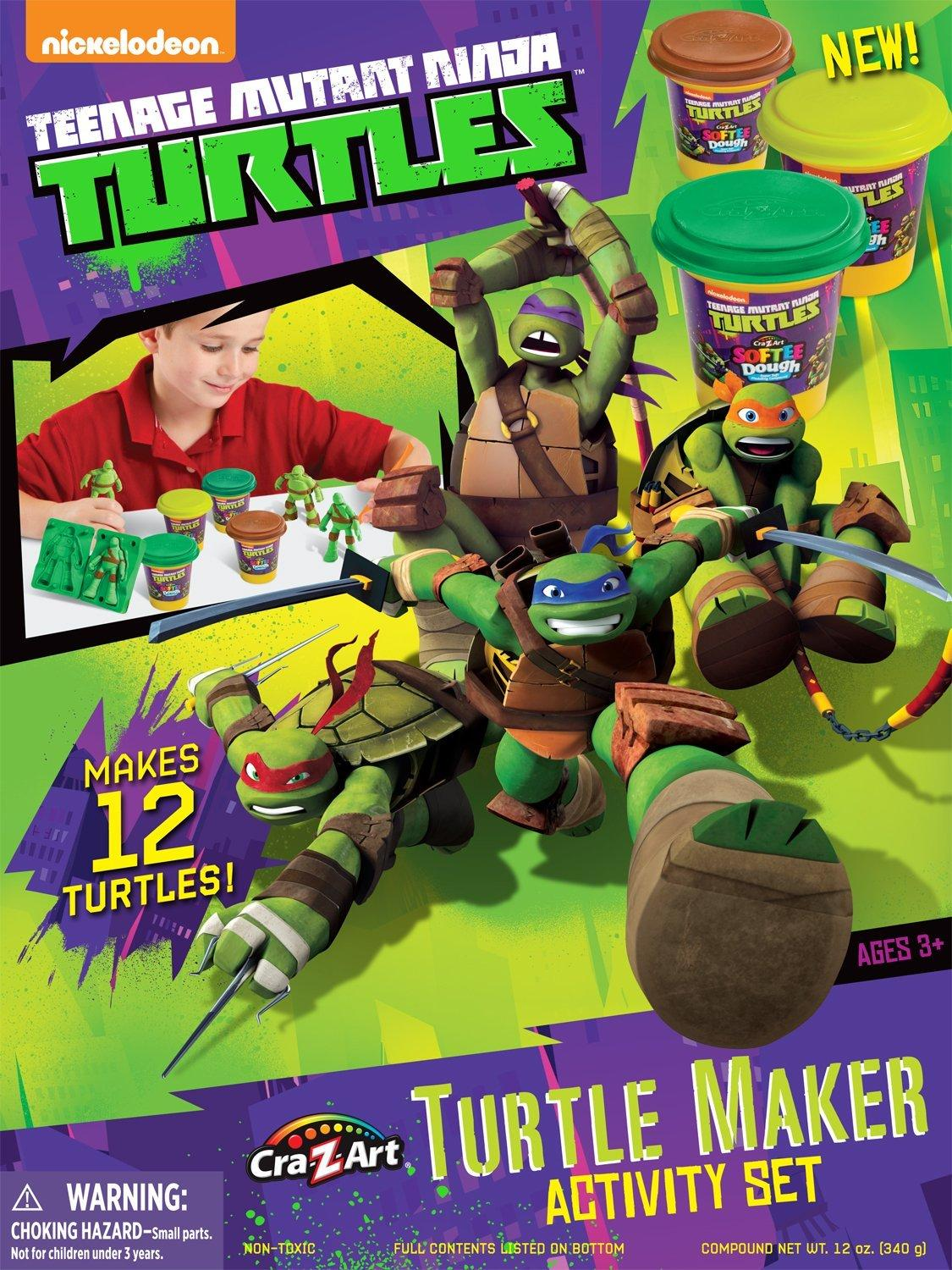 Amazon Cra Z Art Teenage Mutant Ninja Turtles Mold N Play Activity Set Toys Amp Games