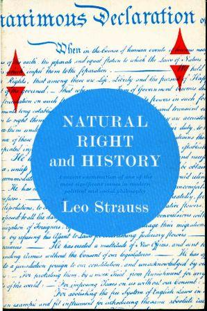 Natural Right & History by Leo Strauss