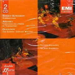 Rimsky-Korsakov: Scheherazade; Arensky: Variations on a Theme by Tchaikovksy; Glazunov: The Seasons