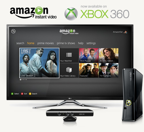 Amazon Instant Video now on Xbox 360