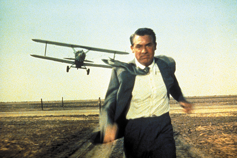 North by Northwest plane scene