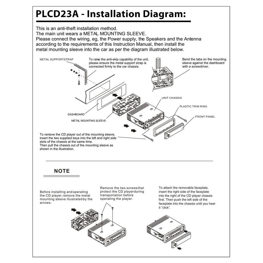 Amazon Pyle Plcd23a Am Fm Mpx Manual Tune Radio Cd