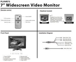 Car Headrest 7 Inch TFT Widescreen Headrest LCD Monitor