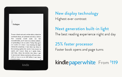 The all-new Kindle Paperwhite