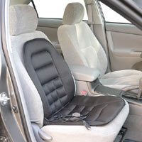 The Wagan IN9738-5 Heated Seat Cushion installed on passenger side with straps
