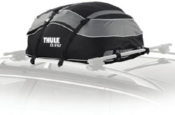 The Thule Quest Rooftop Cargo Bag mounted on a vehicle