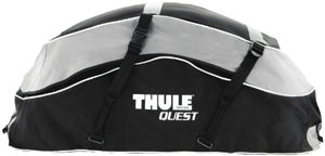 Close up side view of the Thule Quest Rooftop Cargo Bag by itself