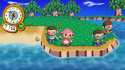 Fishing with friends in 'Animal Crossing: City Folk'