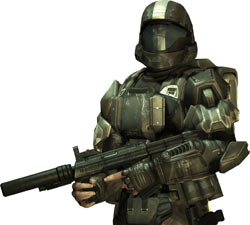 ODST rookie in full gear from 'Halo 3: ODST'