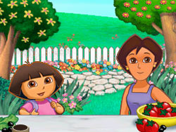 Missing ingredient game that builds pattern recognition skills from Dora's Cooking Club