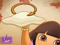 Pizza toss via DS stylus from Dora's Cooking Club