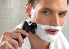 afeitado con maquina electrica