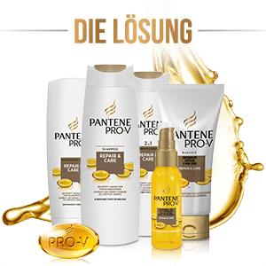 Pantene Pro-V Repair und Care Shampoo, Pflegespülung, Öl und 2 Minuten Kur
