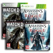 Assassin's Creed : Rogue + Watch Dogs = 29,90 euros sur PS3 et Xbox 360