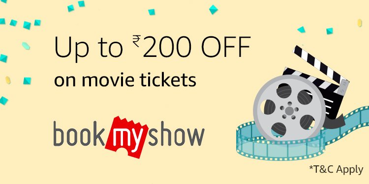 Up to Rs.200 off on movie tickets