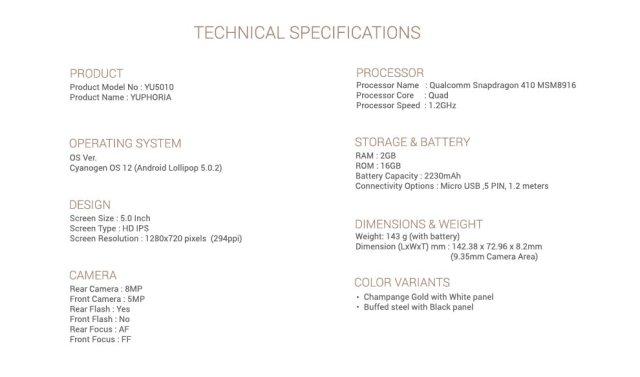 Amazon Yuphoria 08. V304133461  Fabricante Indiano apresenta o Yuphoria, smartphone que vem com CM12 de fábrica image