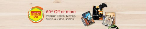 50% off or more on Books, Movies, Music and Video games