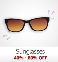 Sunglasses: 40%-80% off