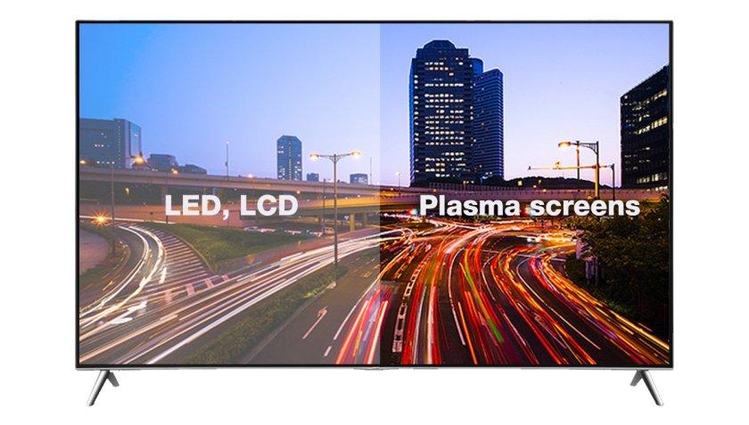 TV screen comparison