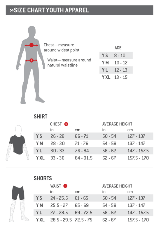 Size Chart Youth