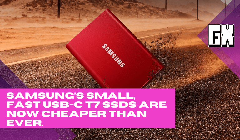 Samsung's small, fast USB-C T7 SSDs are now cheaper than ever.