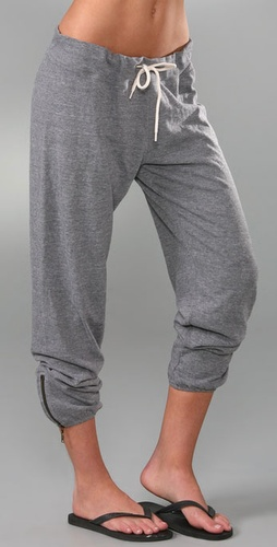 Monrow Vintage Sweatpants with Zipper