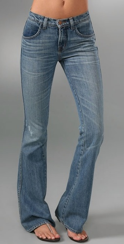J Brand Mid Rise Flare Jeans