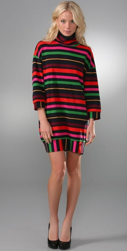 Marc by Marc Jacobs Charlotte Stripe Oversized Turtleneck Dress