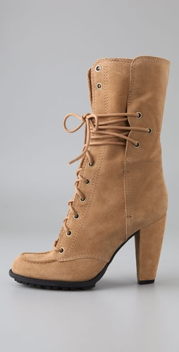 7 For All Mankind Everly Suede Lace Up Boots