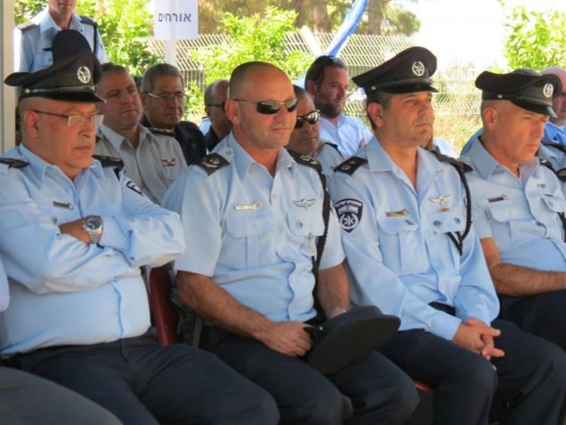 מפקד המחוז, ניצב אלון סרור בטקס בצפת.
