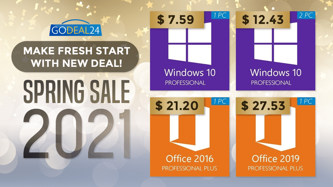 Deal Spring: Windows 10 Pro for only $ 7.59 and huge discounts up to 62 percent