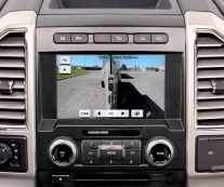 All-new 2017 Ford F-Series Super Duty offers class-exclusive trailer reverse guidance, which provides visual cues and coaching tips to help ease backing up a trailer with the use of cameras. The displayed camera image automatically shifts with trailer angle to provide the best view possible of the trailer.