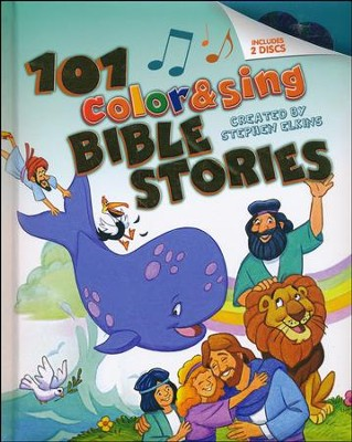101 Color & Sing Bible Stories, hardcover padded  -     By: Stephen Elkins<br /><br /><br /><br />