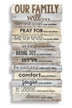 Our Family Will Love    Wall Plaque   -