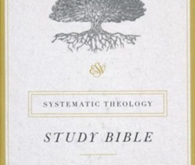 Esv Systematic Theology Study Bible Black Genuine Leather