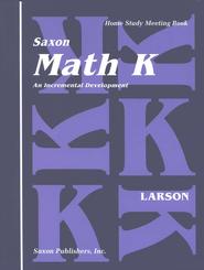 Saxon Math K, Meeting Book   -