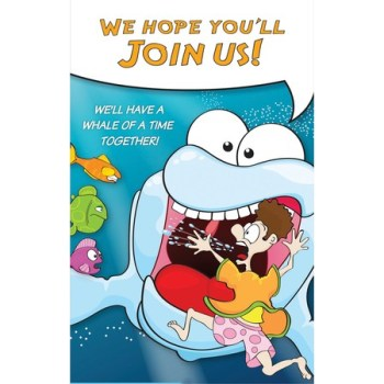 Jonah and whale invite cards